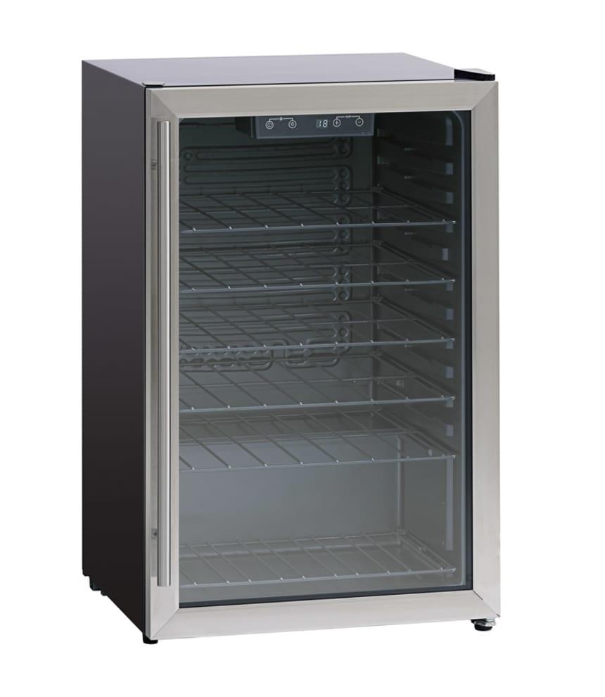 Fritstående ølkøleskabe 115 liter Stainless