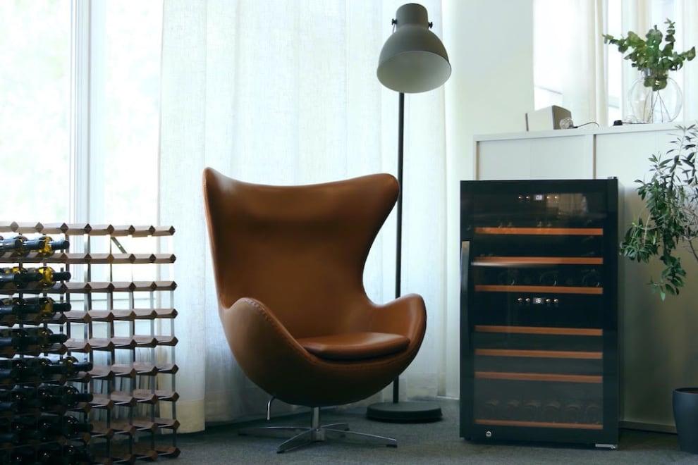 mQuvée fritstående vinkøleskab - WineExpert 66 Fullglass Black