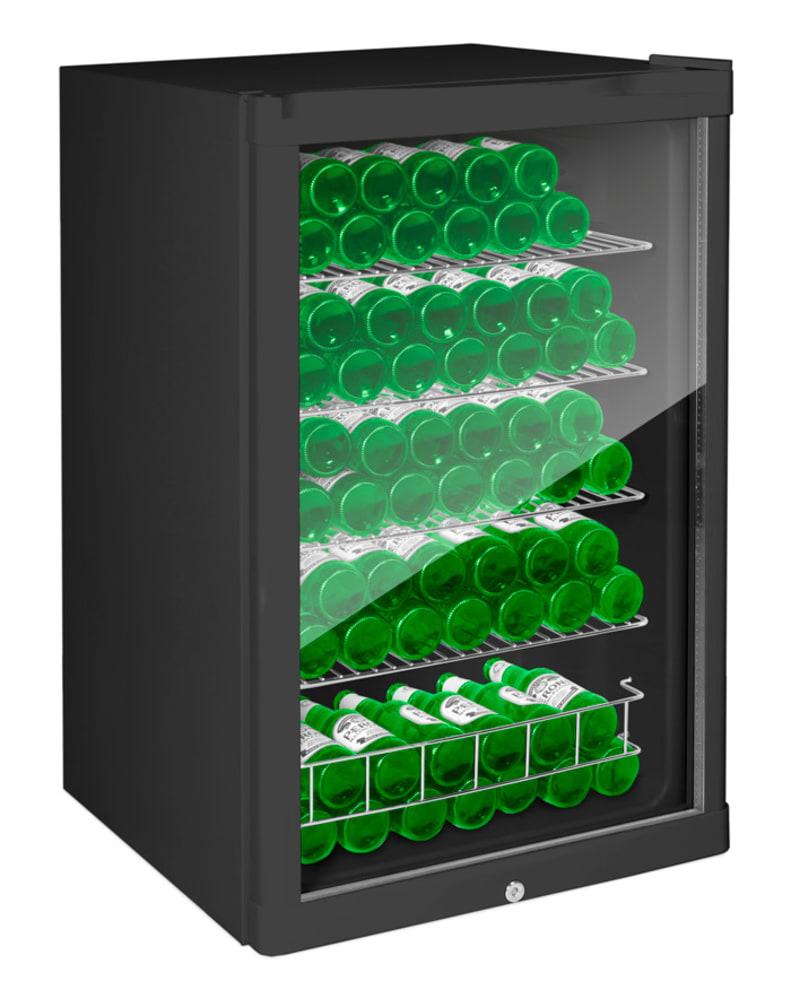 Fritstående Ølkøleskab 115 L Sort