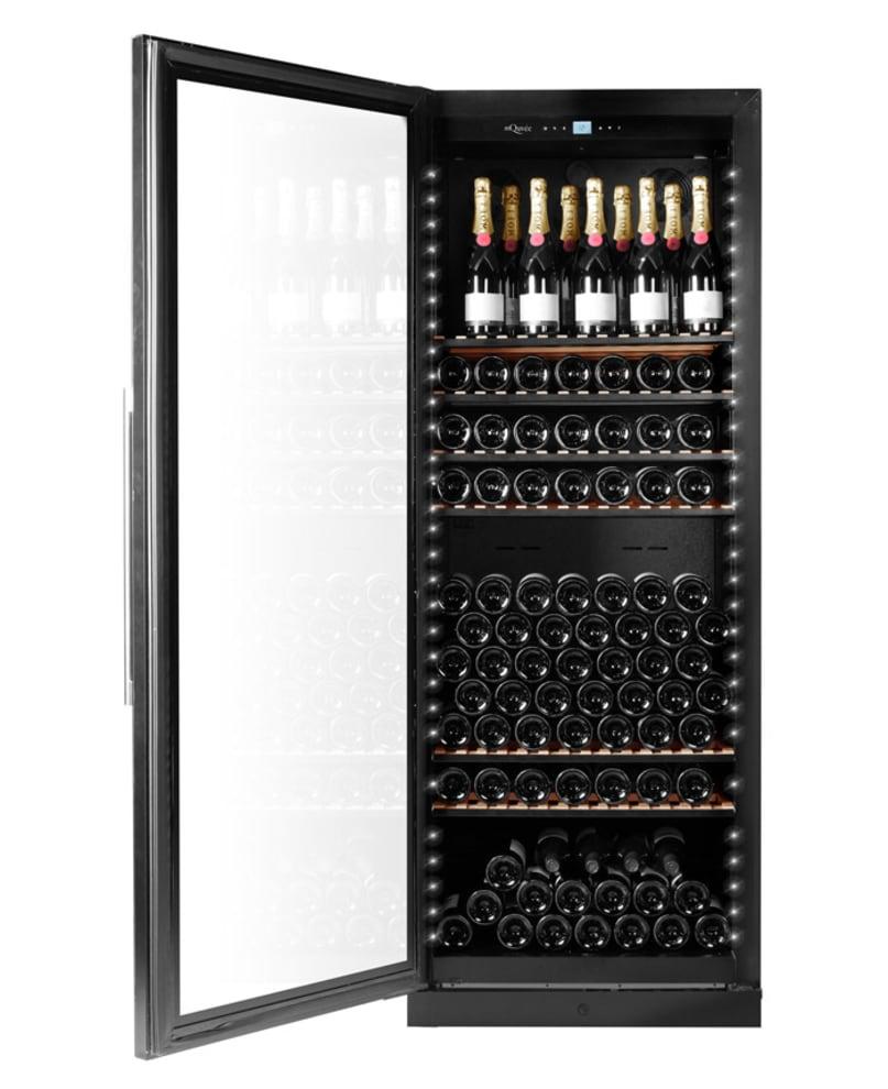 Exklusivt vinlagringsskåp med vänsterhängd dörr