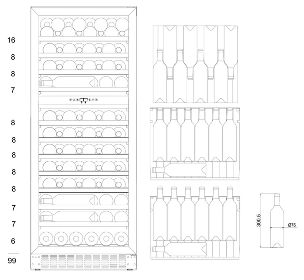 Built-in wine cooler - WineCave 102 Stainless