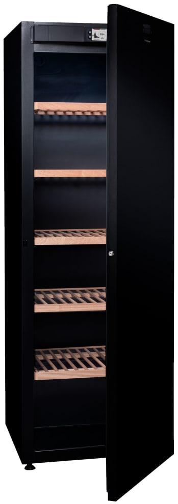Vinlagringsskåp med öppen dörr - plats för 264 flaskor