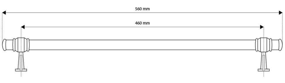 Lofra - Griff für Weinkühlschrank (Messing)