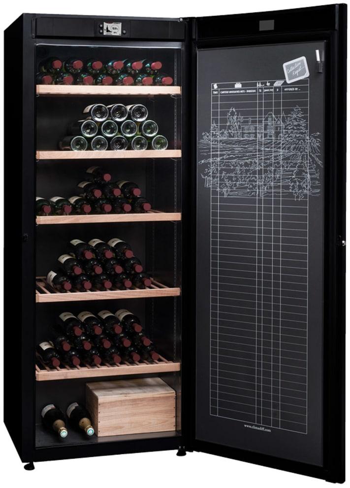 Stort vinlagringsskåp med monotemp och 5 fixerade premiumhyllor