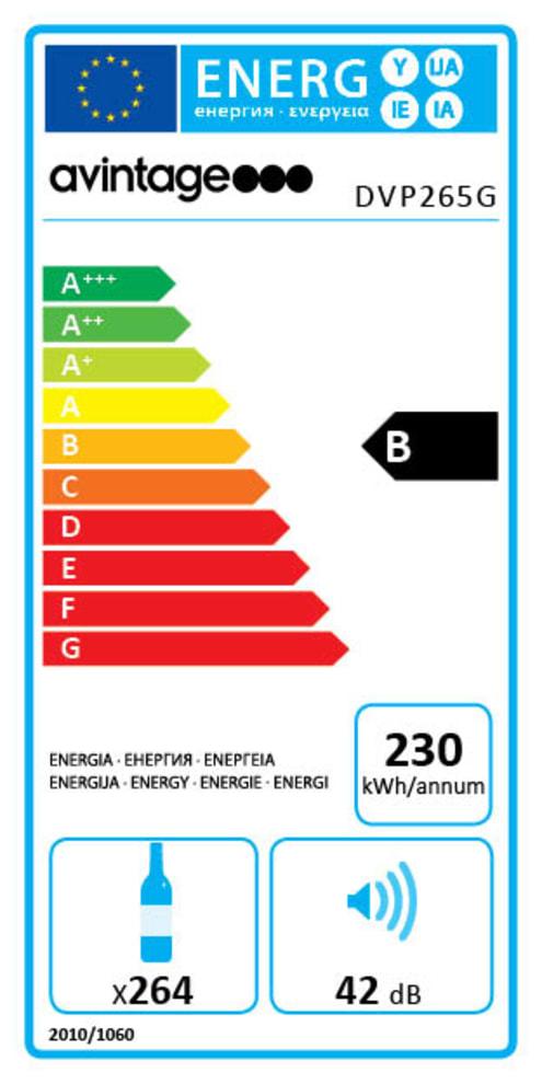 DIVA Evolution Monilämpötila, lasiovi – DVP265G