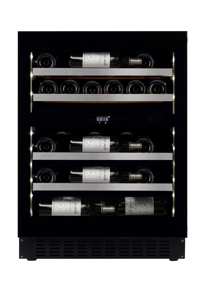 mQuvée Cave à vin encastrable - WineCave Exclusive 700 60D Fullglass Black Push/Pull