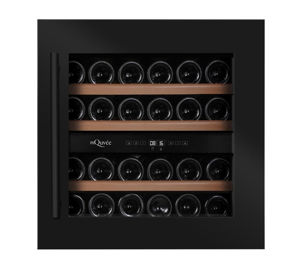 mQuvée Integrierbarer Weinkühlschrank - WineKeeper 25D Anthracite Black