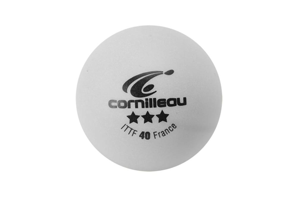 Cornilleau Elite 3-stjernede bordtennisbolde 3-pack (hvide)