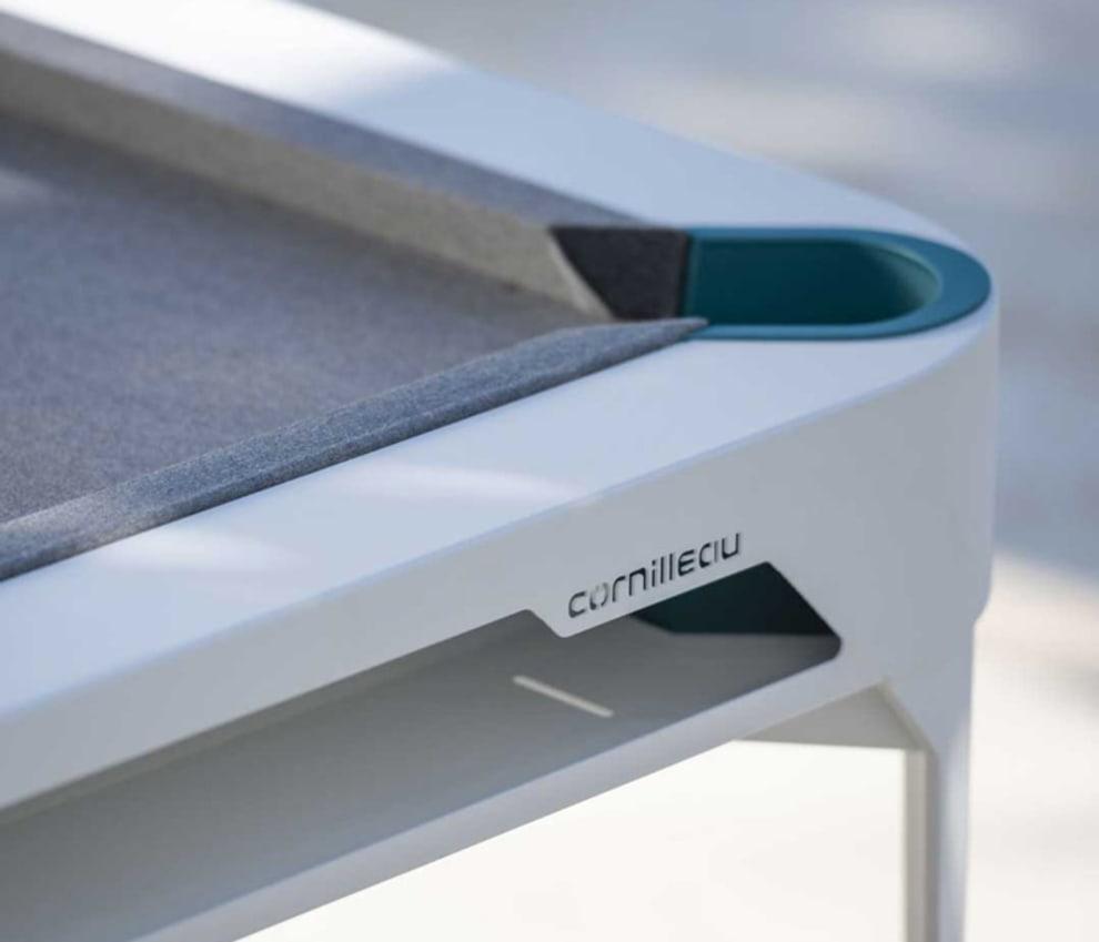 """Biljardbord """"HYPHEN"""" Outdoor - Vitt bord inkl. bordsskiva"""