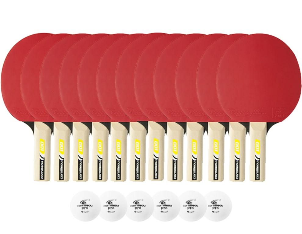 12-pack indendørs bat (12 bat + 6 bolde)