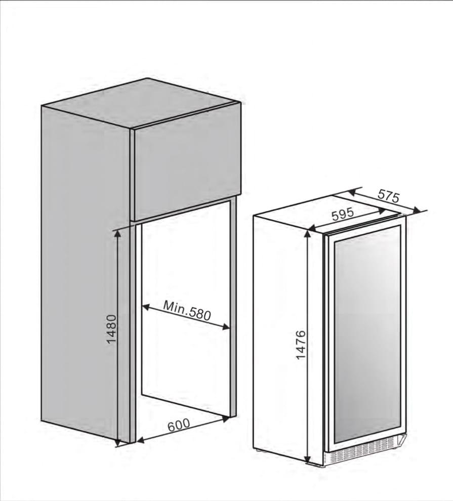 Einbau-Weinkühlschrank - WineCave 102 Stainless