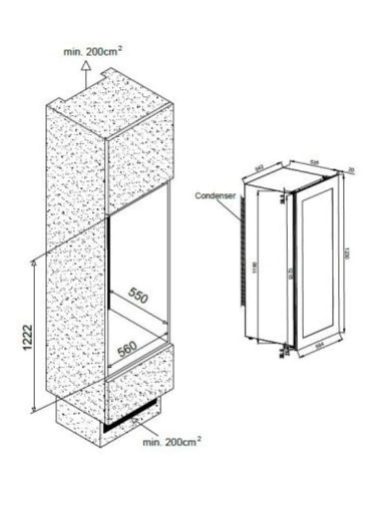 Integrérbart vinkøleskab – AVI82PREMIUM