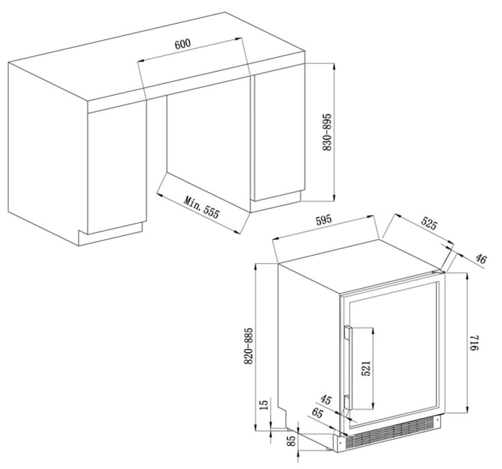Avintage Sisäänrakennettava viinikaappi – AVU54SXDZA