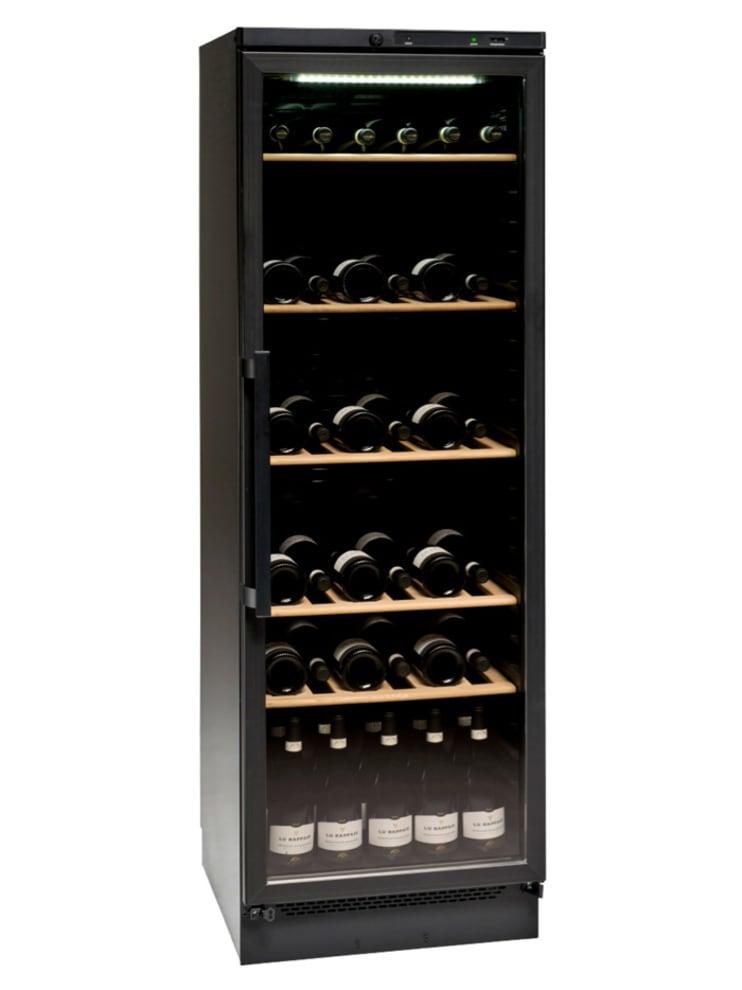 Fristående vinkyl i helsvart design - vinklad