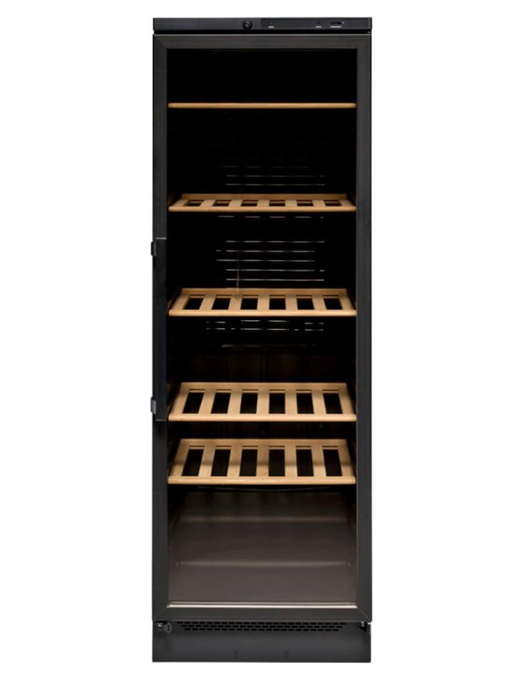 Fristående vinkyl i helsvart design utan flaskor