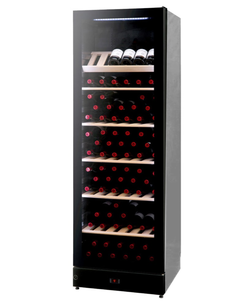 Fristående vinkyl 197 flaskor vinklad