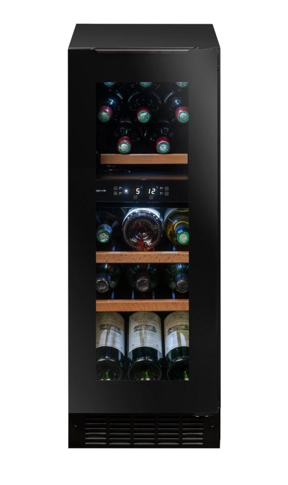 Svart inbyggbar vinkyl från Avintage med 17 flaskor