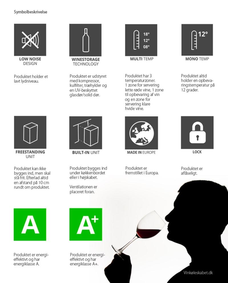 mQuvée vinopbevaringsskab - WineStore 177 Anthracite Black
