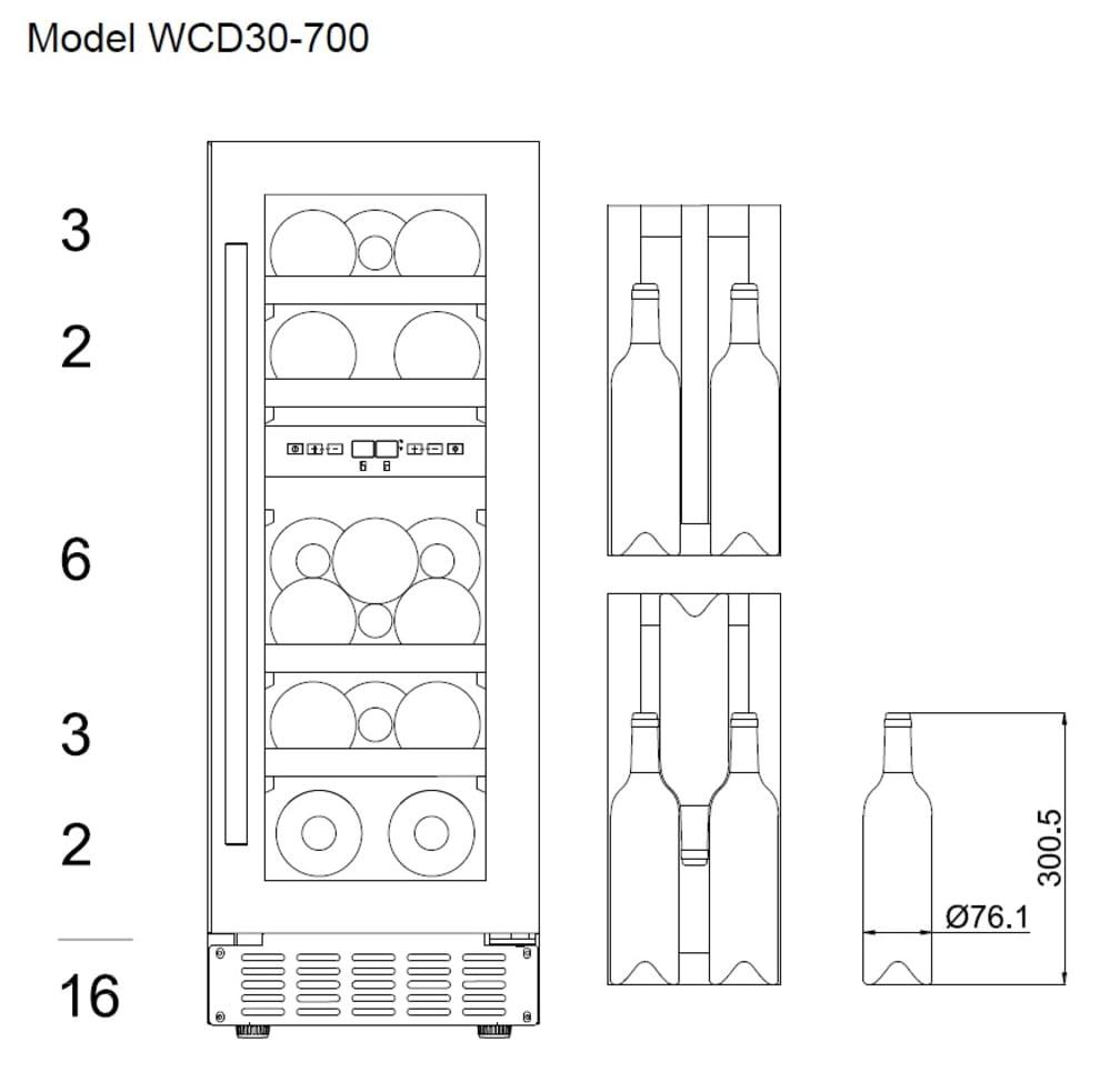 Einbau-Weinkühlschrank - WineCave 700 30D Stainless