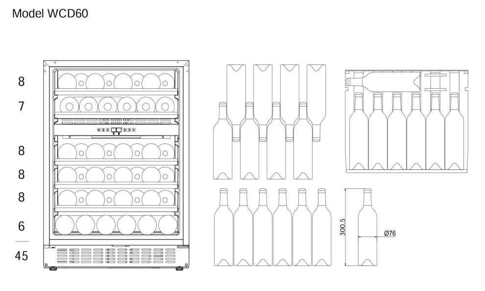 Built-in wine cooler - WineCave 60D Modern