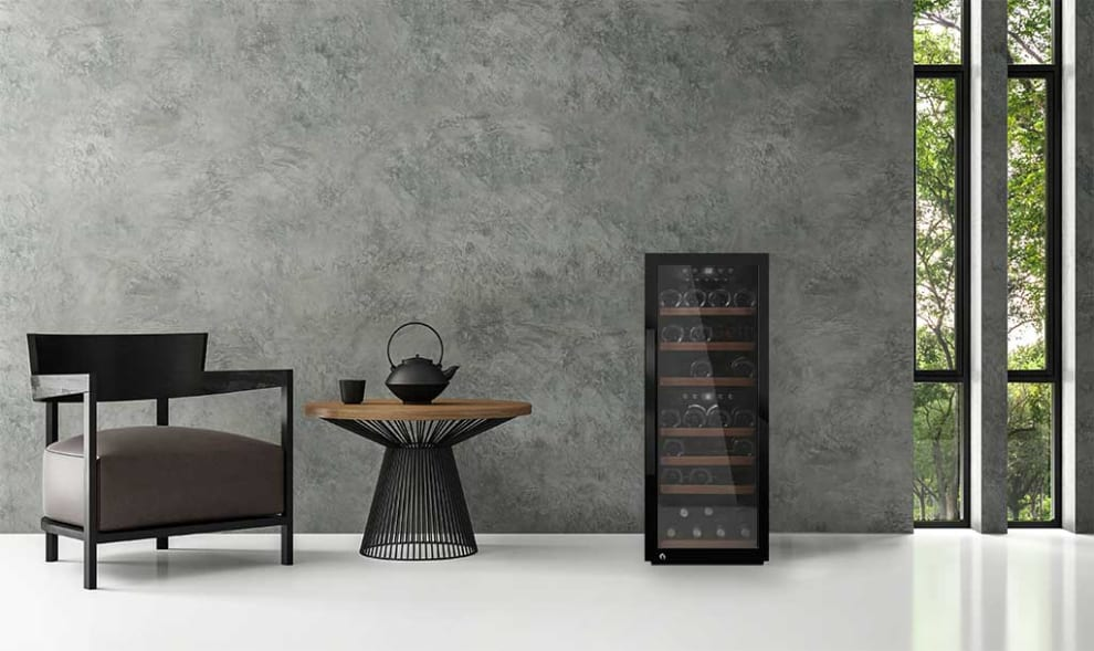 mQuvée  frittstående vinskap - WineExpert 38 Fullglass Black