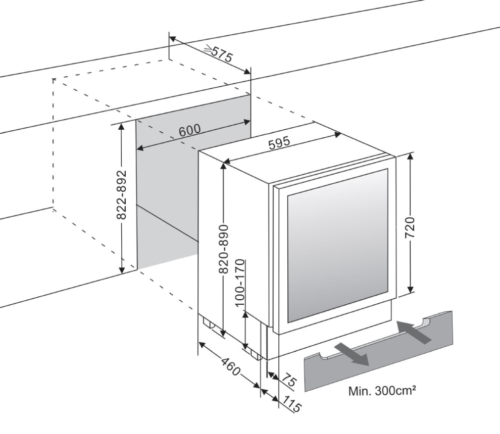 Inbyggbar vinkyl - WineCave 60D Modern