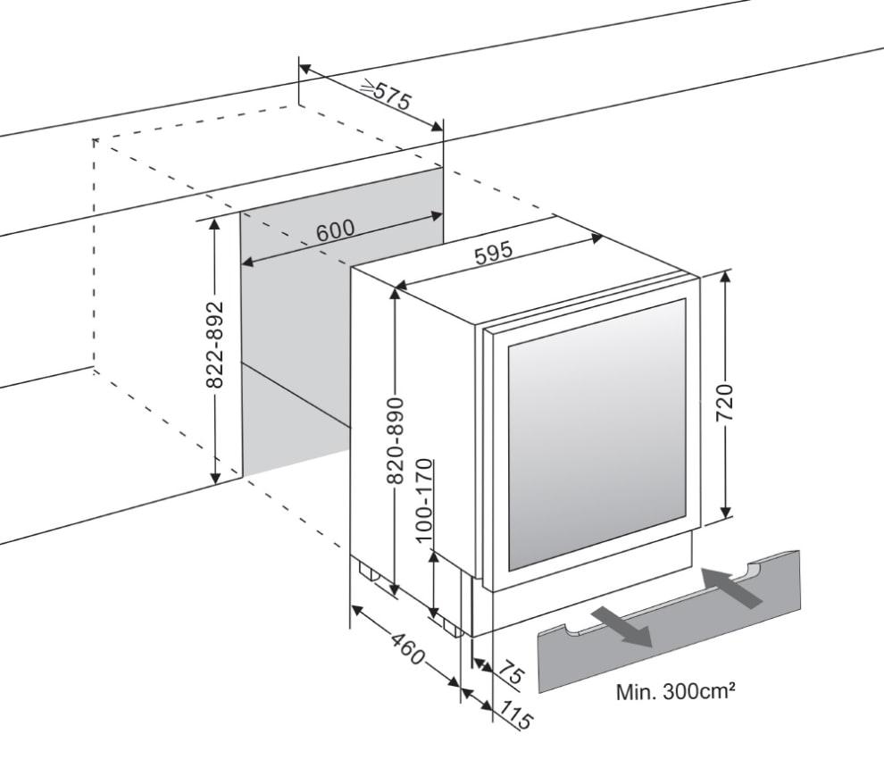 mQuvée Sisäänrakennettava viinikaappi – WineCave 60D Modern