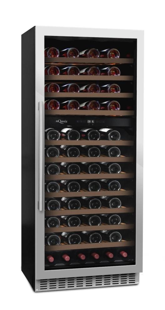 mQuvée vinkøleskab til indbygning - WineCave 102 Stainless