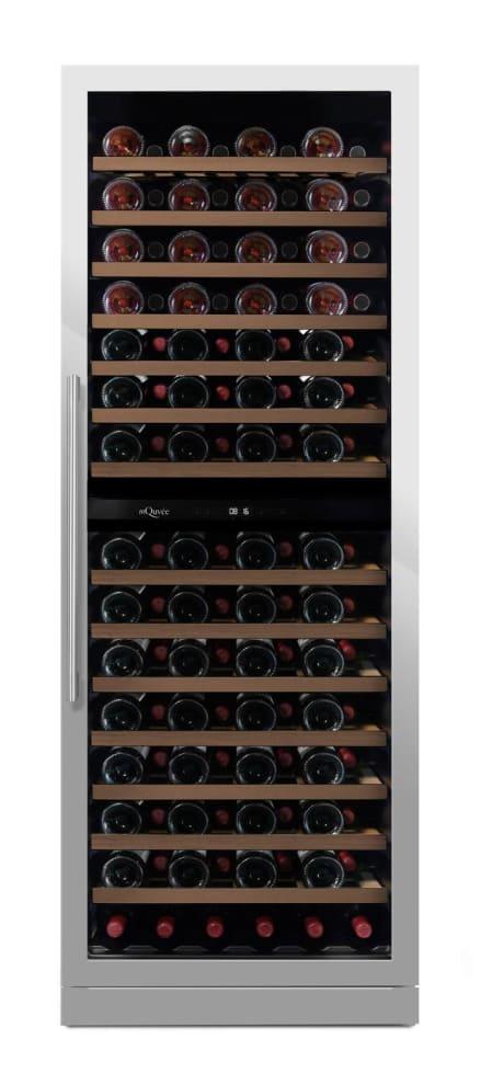 mQuvée Sisäänrakennettava viinikaappi - WineCave Exclusive 187 Stainless