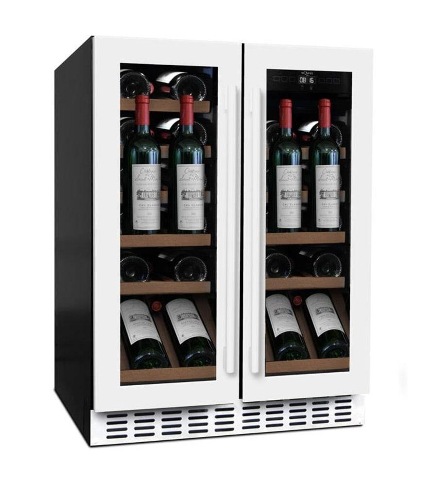 Sisäänrakennettava viinikaappi esittelyhyllyllä – WineCave 60D2 Powder White