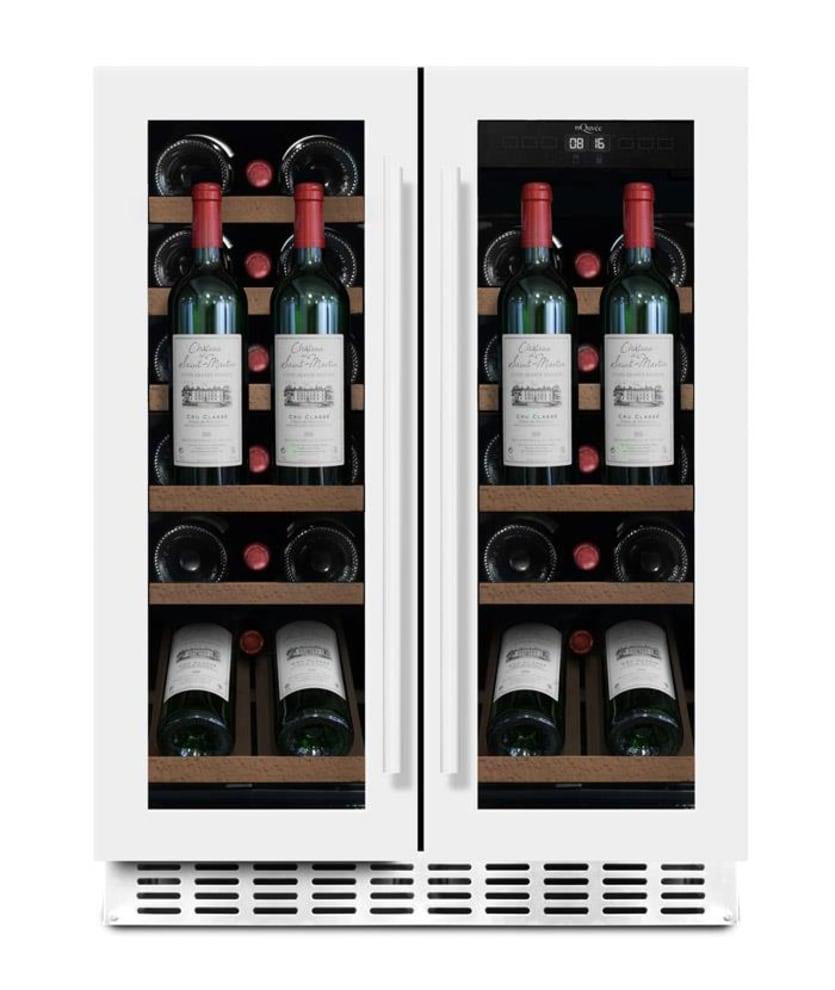 Innbyggbart vinskap Presentasjonhylle - WineCave 60D2 Powder White
