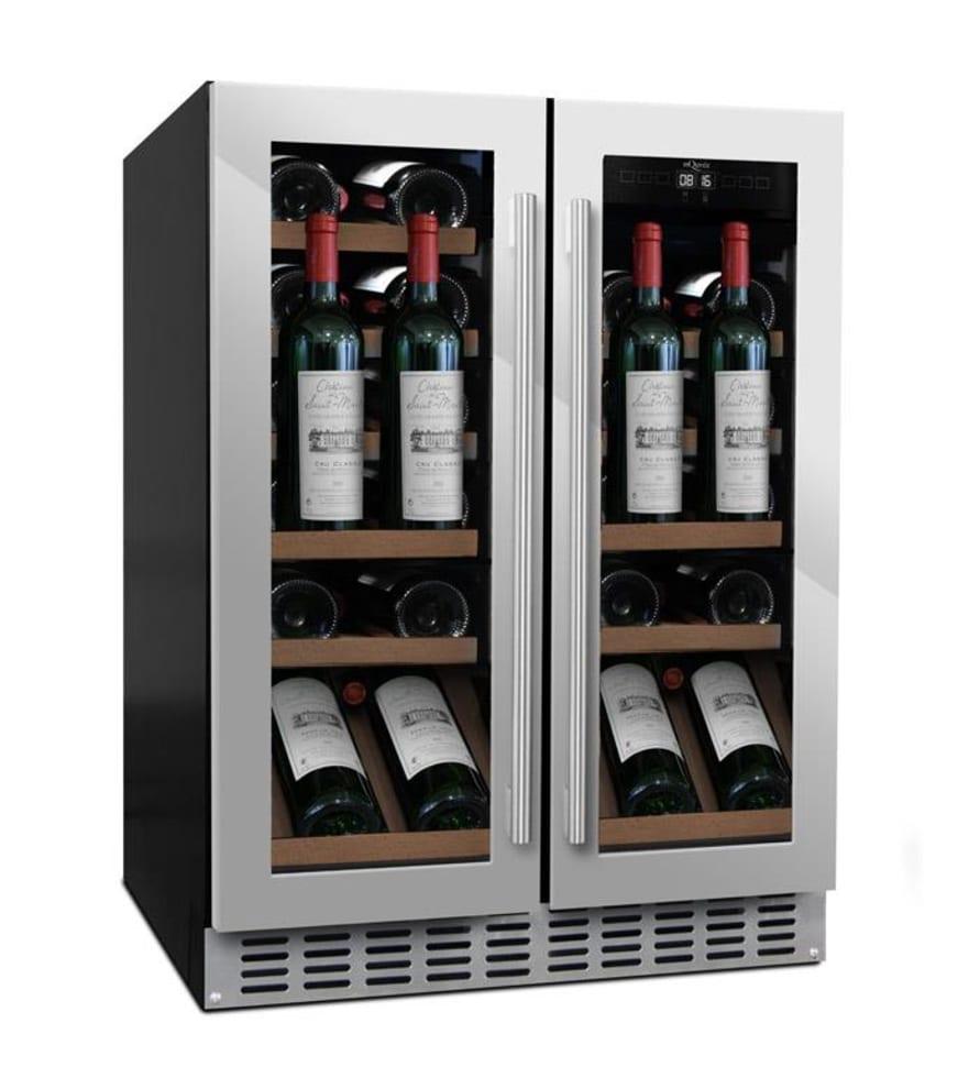 mQuvée Einbau-Weinkühlschrank Präsentationsfach - WineCave 60D2 Stainless