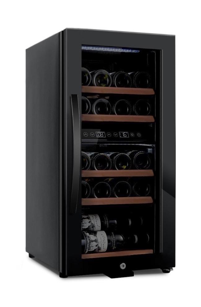 Fristående vinkyl - WineExpert 24 Fullglass Black