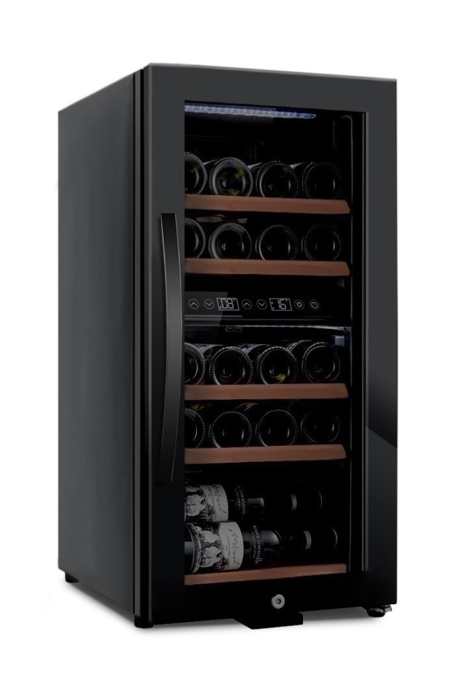mQuvée Freistehender Weinkühlschrank - WineExpert 24 Fullglass Black