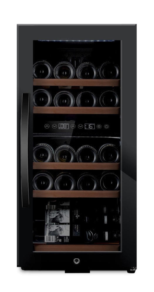 Freistehender Weinkühlschrank - WineExpert 24 Fullglass Black