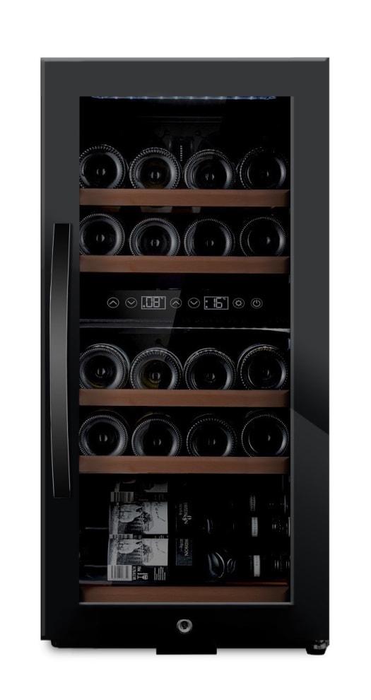 mQuvée  fritstående vinkøleskab - WineExpert 24 Fullglass Black