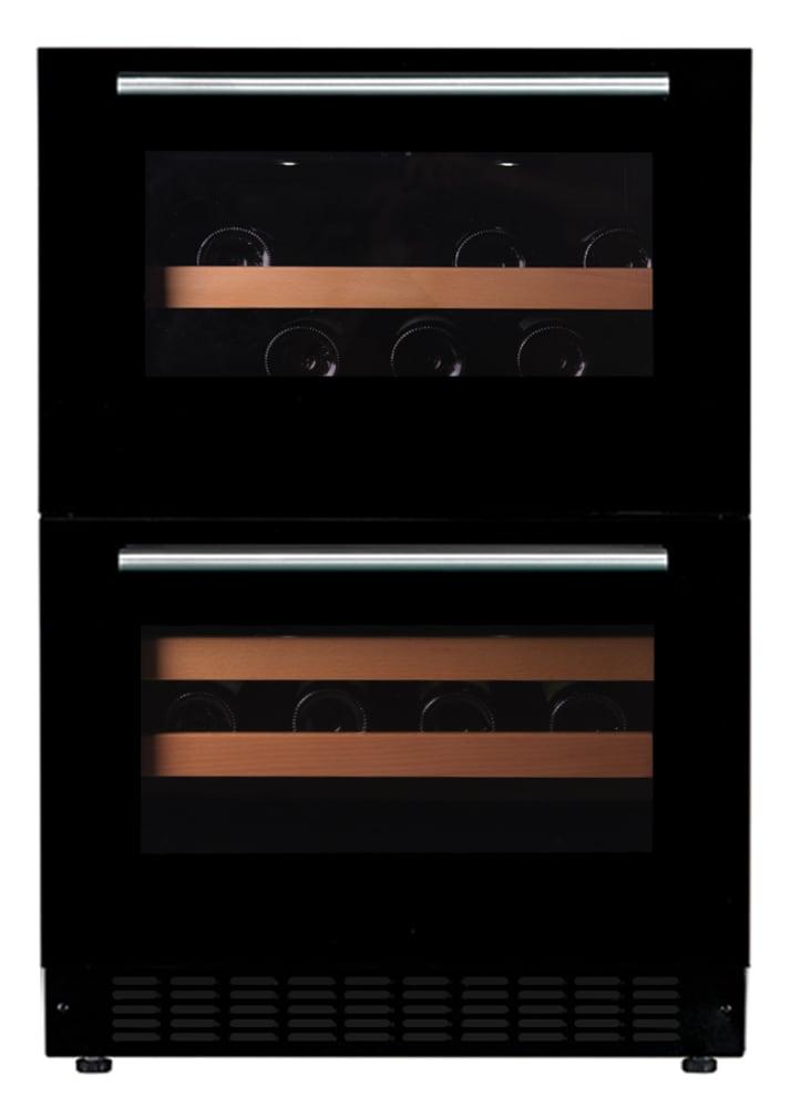 mQuvée innbyggbart vinskap - WineCave 60DD Fullglass Black