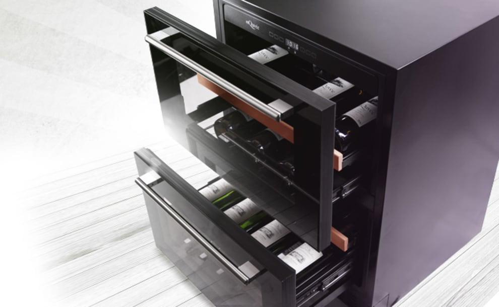 Built-in wine cooler - WineCave 60DD Fullglass Black