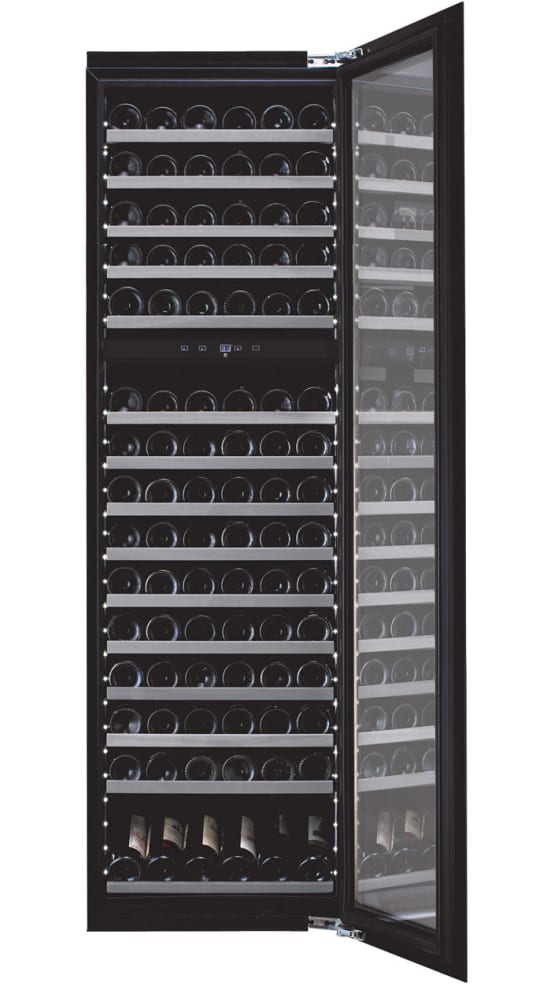 Cantinetta vino integrabile - WineKeeper Exclusive 112D Fullglass Black Push/Pull