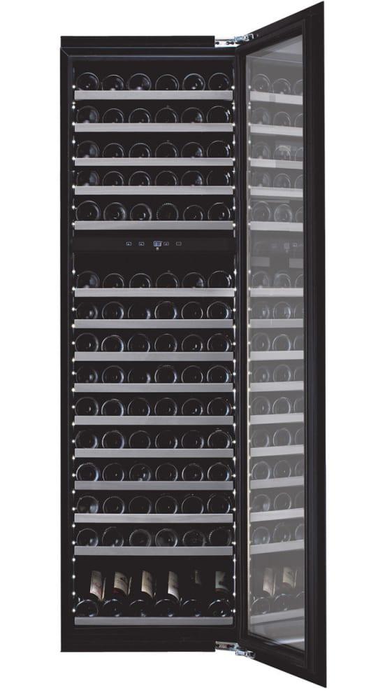 Integroitava viinikaappi – WineKeeper Exclusive 112D Fullglass Black Push/Pull