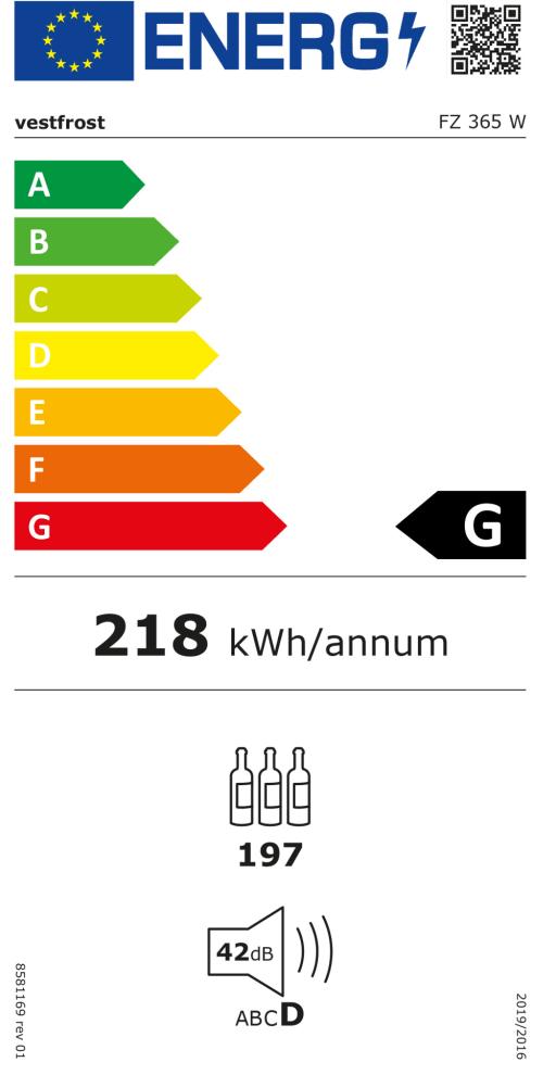 Fristående vinkyl - FZ 365 W