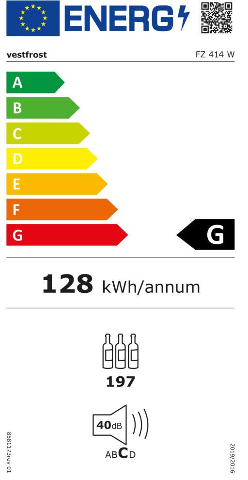 Fristående vinkyl - FZ 414 W