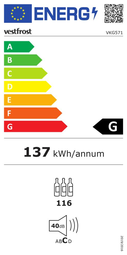 Fritstående vinkøleskab - VKG 571