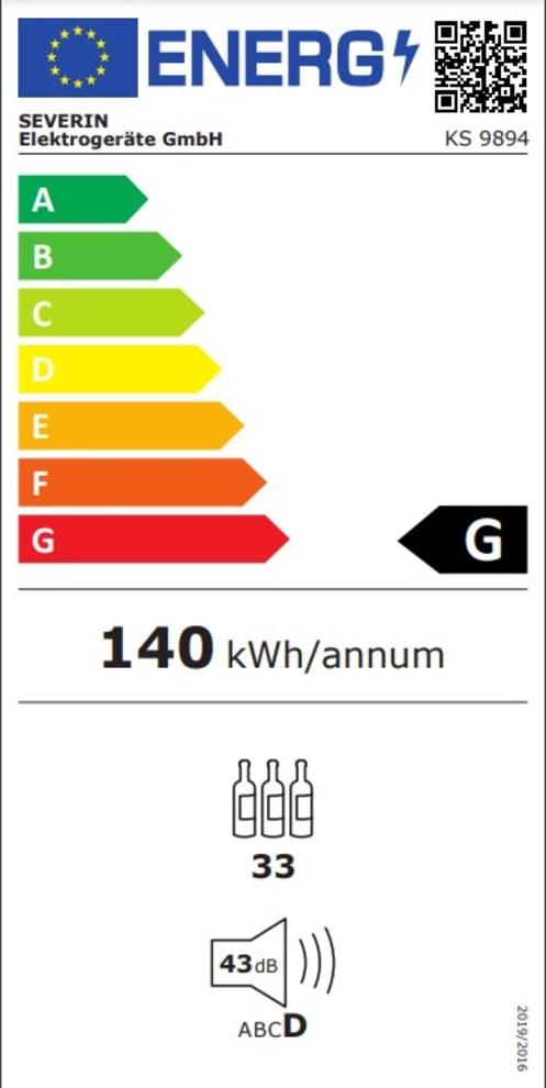 Fritstående vinkøleskab - KS 9894