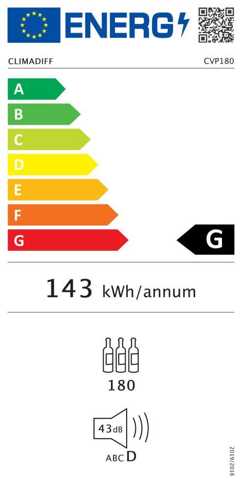 Climadiff Weinklimaschrank - CVP180