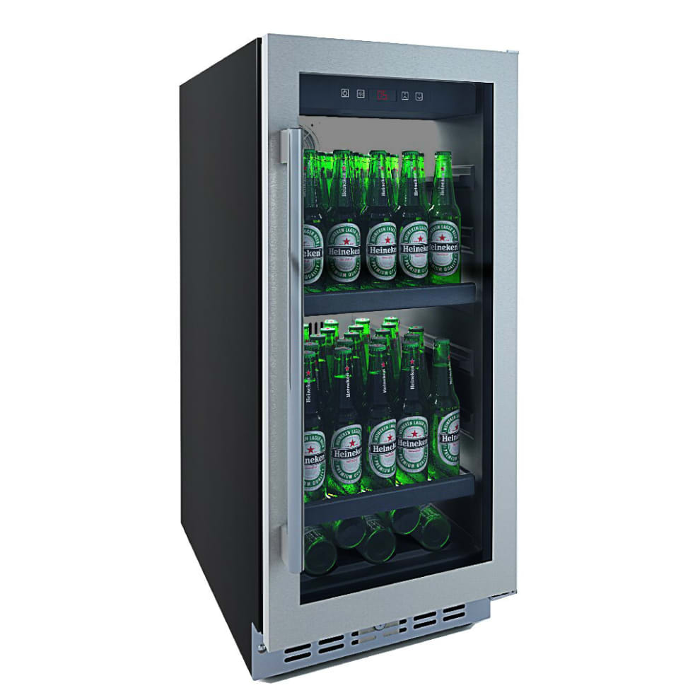 Innbyggbart ølskap rustfri - Subzero Beer Froster 700 40 cm