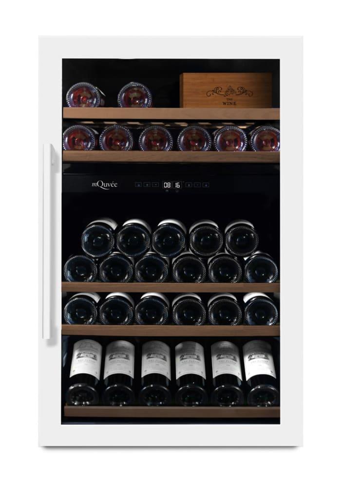 mQuvée Freistehender Weinkühlschrank - WineServe 49 Powder White