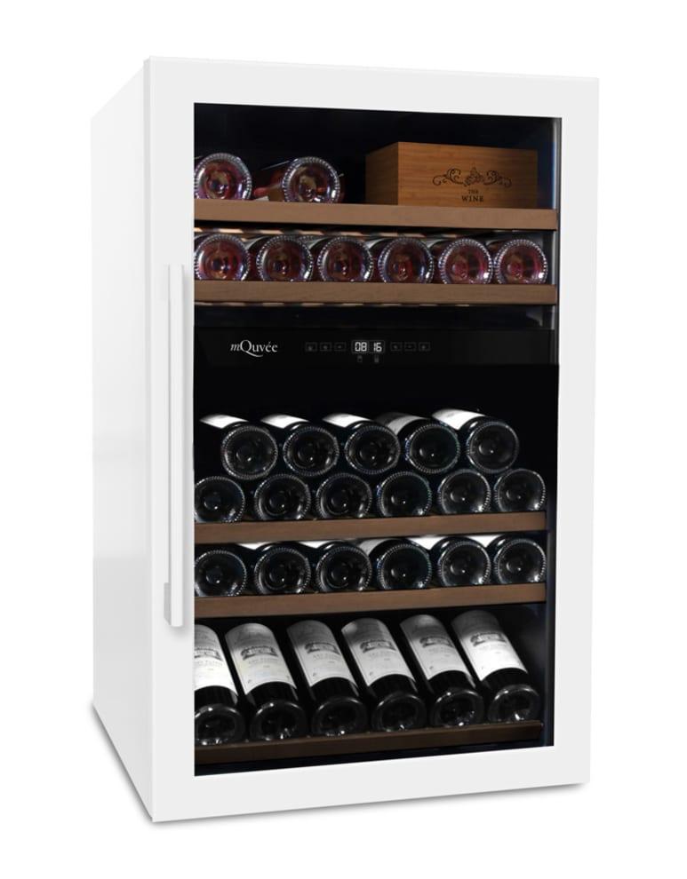 Freistehender Weinkühlschrank - WineServe 49 Powder White