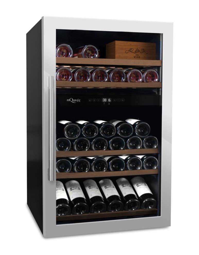 mQuvée fritstående vinkøleskab - WineServe 49 Stainless