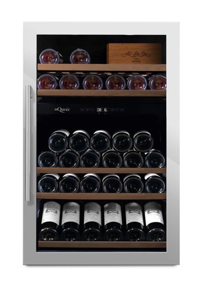 mQuvée Freistehender Weinkühlschrank - WineServe 49 Stainless